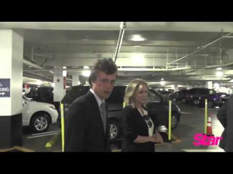 Conrad Hilton leaving court in LA