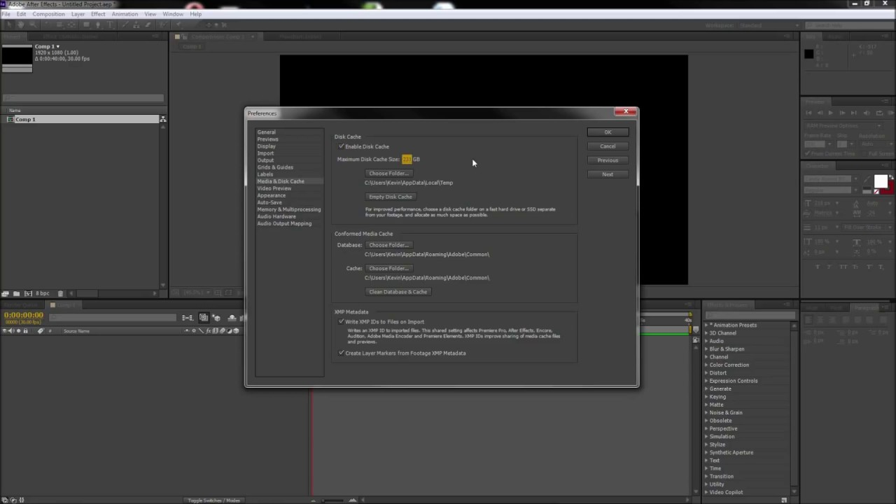 After Effects Tutorial Increase Ram Preview and