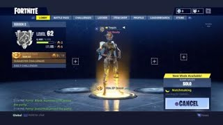 Fortnite l Buying Chomp Jr and elite agent l Solo win 1st try