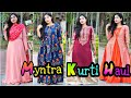 Myntra Kurti Haul || Starting from ₹500 || Party Wear & Casual Kurti Try on Haul