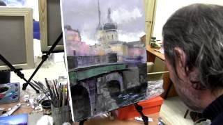 Уроки рисования, живопись маслом для начинающих, Сахаров