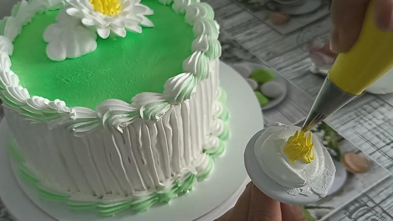 ТОРТ для МАМЫ🥰 Украшение торта кремом БЗК🤗