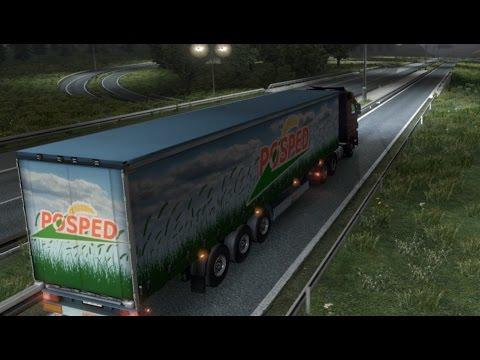 Euro Truck Simulator 2. Career. Part 2 (Strasbourg-Zurich-Geneve)