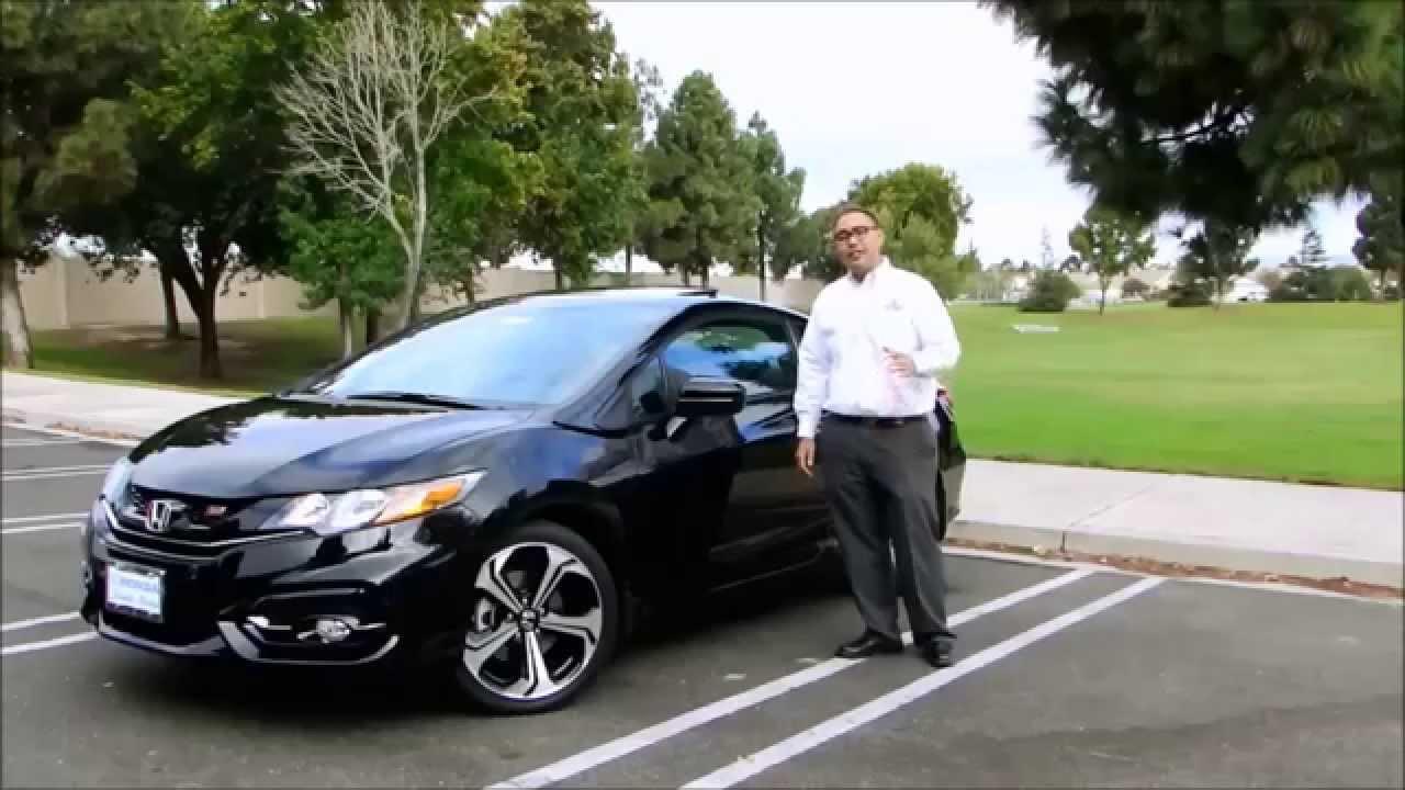 2015 black and white Honda civic si coupe - YouTube |Honda Civic Si 2015 Sedan Black