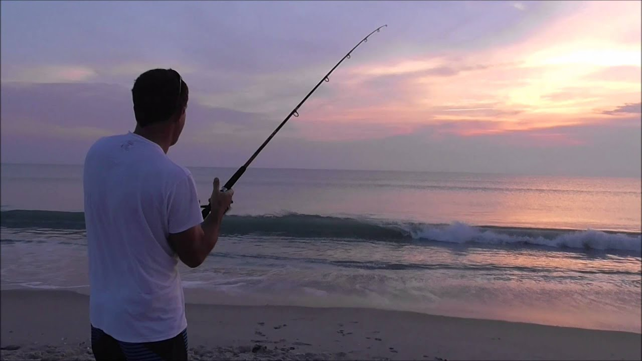 Surf fishing for pompano and whiting in florida youtube for Pompano beach fishing report