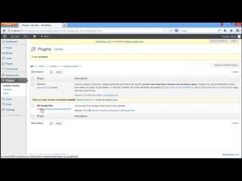 WordPress to google plus