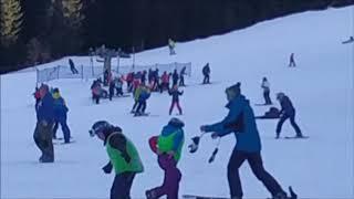 除雪車を近くからビデオしました。 filmed snowplow from near