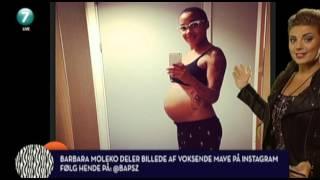 Moleko viser sin smukke, gravide mave