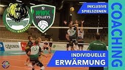 Individuelle Erwärmung am Spieltag - HELIOS GRIZZLYS vs. WWK Volleys Herrsching