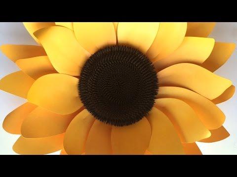 Sunflower: Assembling the Paper Flower
