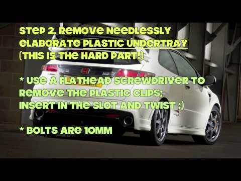 Gearbox Oil Change >> How to change gear oil (manual transmission fluid) in Honda Civic FN2 Type R or FG2 FA5 Si - YouTube