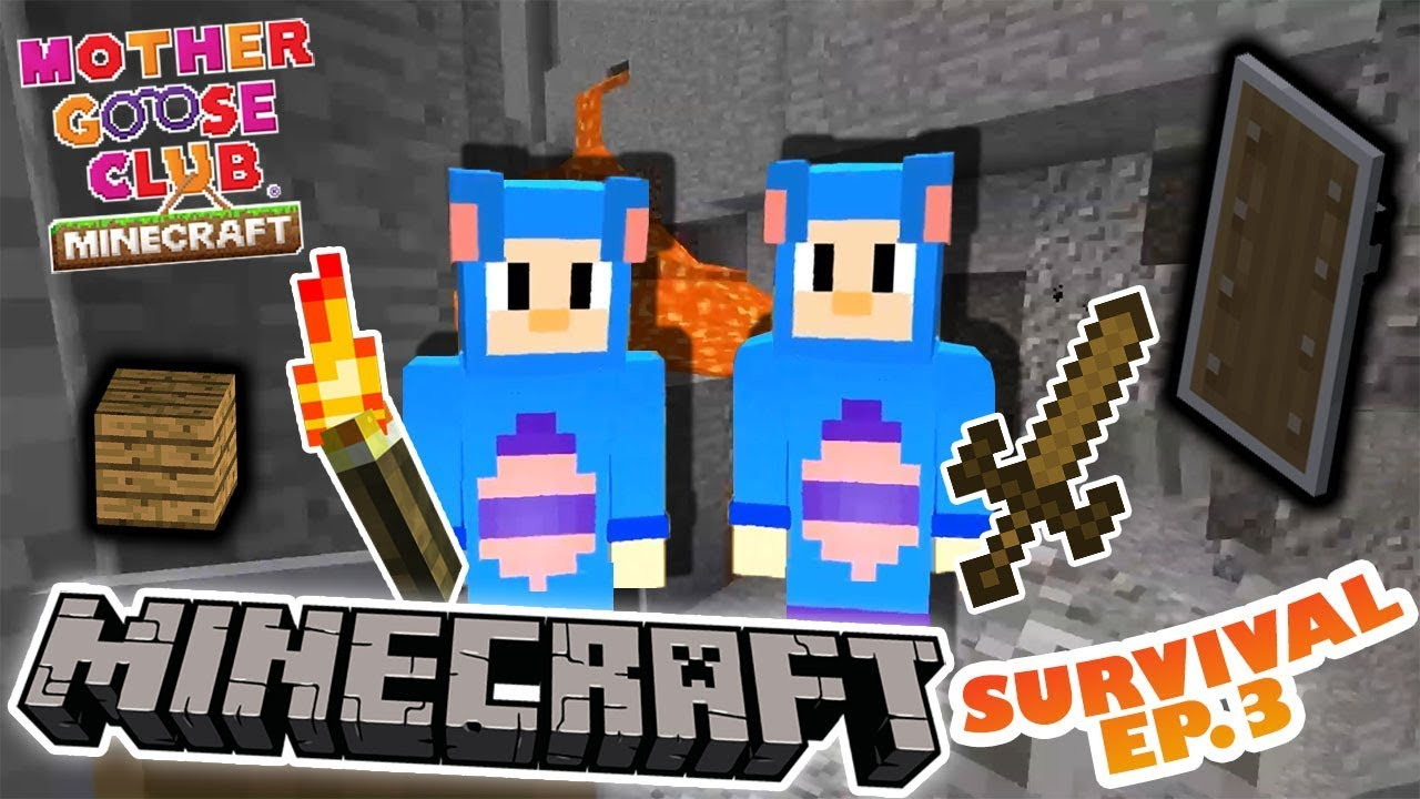 Minecraft Eep And Survival Ep 3 Secret Cave Twin Electrical Software Mother Goose Club