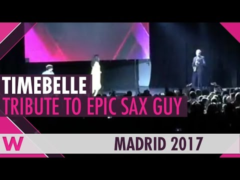 Timebelle perform a tribute to Epic Sax Guy at Eurovision PreParty Spain 2017