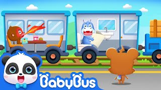 Baby Panda Learns Transport | Best Jobs & Professions for Kids | BabyBus Game