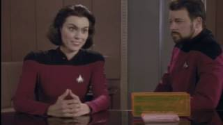 ensign ro meet with captain picard and commander riker