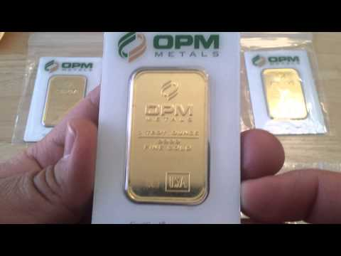 5 Oz OPM Metals .9999 Pure Fine GOLD Bars