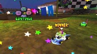 DISNEY PIXAR TOY STORY RACING (ps1) gameplay buzz woody RC bo peep