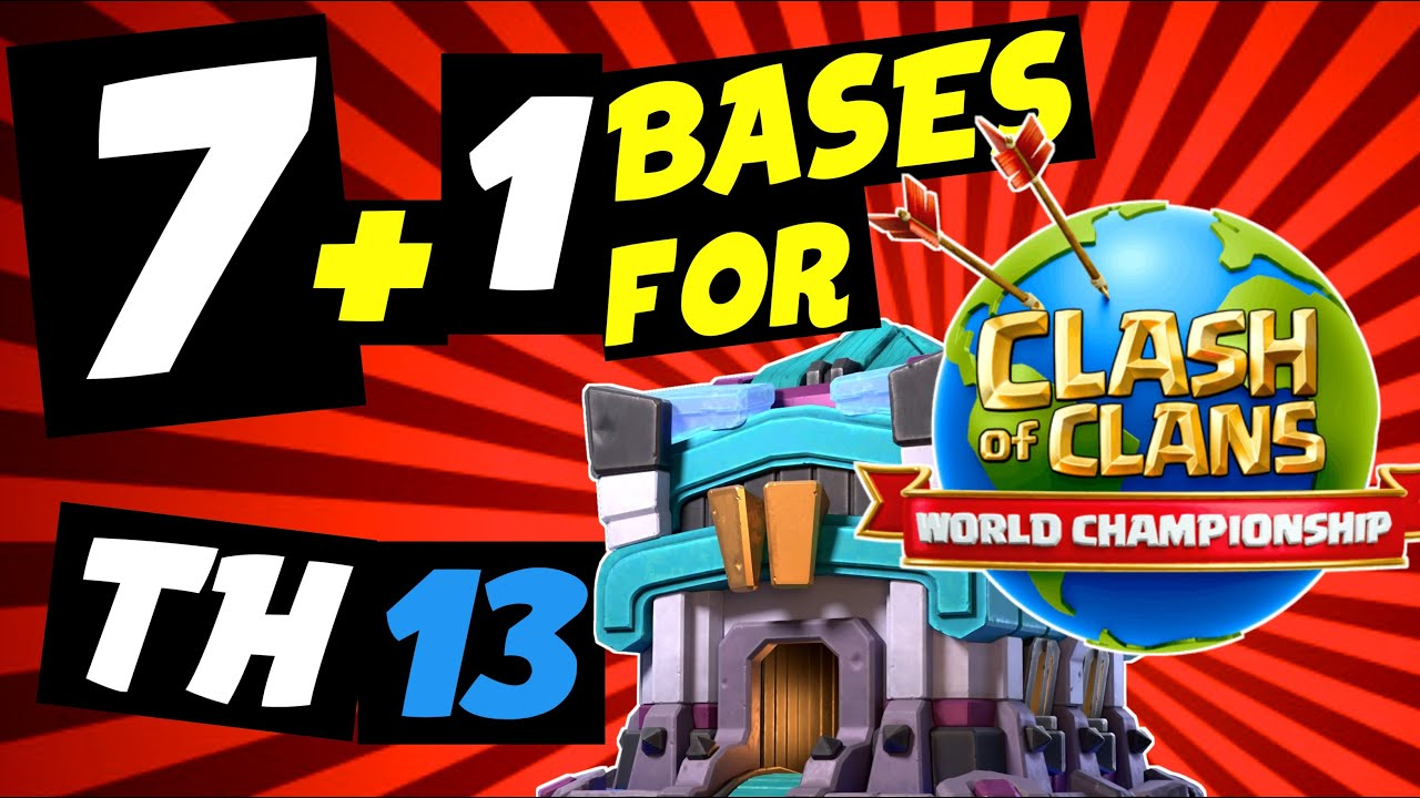 Las MEJORES BASES + LINK (Th13) 🌎del MUNDIAL World Championship /dia 26 junio 2020/ Clash of Clans