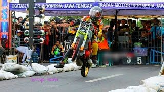 Tr4gis!! Joki Ninja Pemula Jatuh Saat Start Drag Bike Terbaru