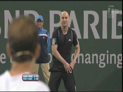 "Things Get Ugly Between Two Legends At Charity Event ""Agassi/Sampras"""