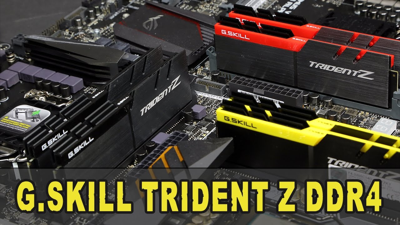 G Skill Trident Z RGB 16GB KIT DDR4 3200MHz di RAM
