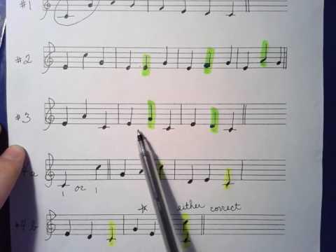 Melodic Intervals Worksheet