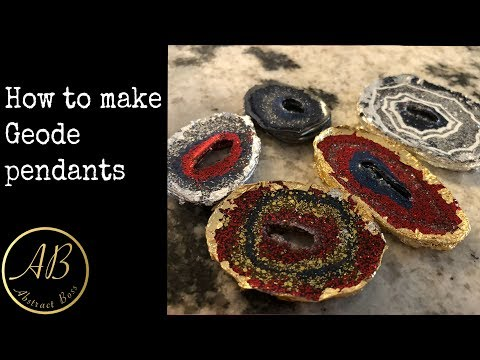 How to make geode pendants