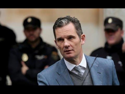 Iñaki Urdangarin cuñado del rey de España Felipe VI libra la cárcel le otorgan fianza Video 2017