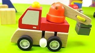 Мультик про Кротика и рабочие машинки - Деревянные игрушки