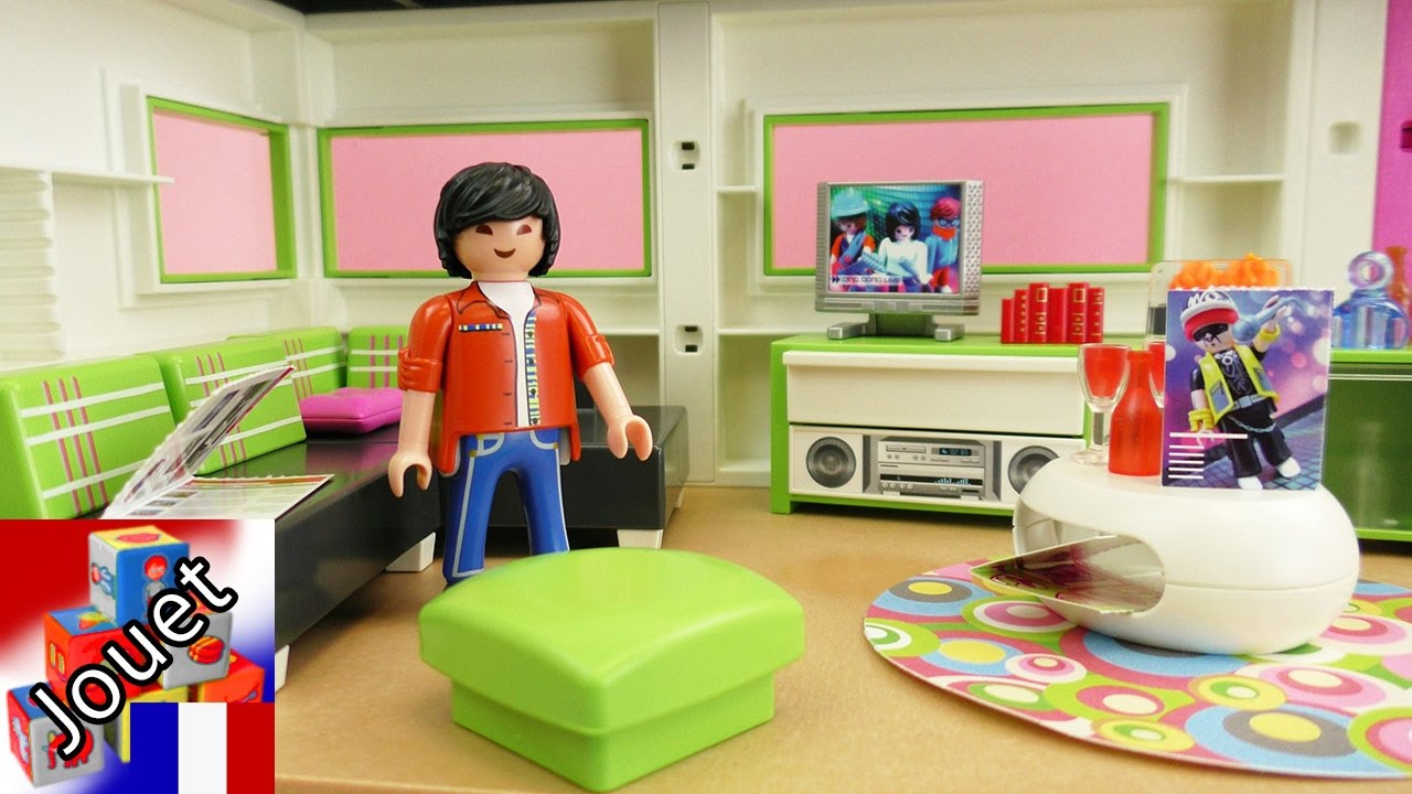Salon playmobil city life unboxing et commentaire avec for Salle a manger playmobil city life