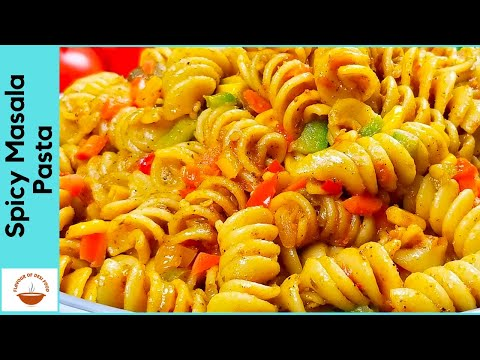 Spicy Masala Pasta   Indian Style Veg. Pasta Recipe   Quick & Easy   Flavour Of Desi Food - Ep 12
