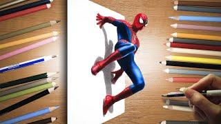 3D Colored Pencil Drawing: Spider-Man - Speed Draw | Jasmina Susak