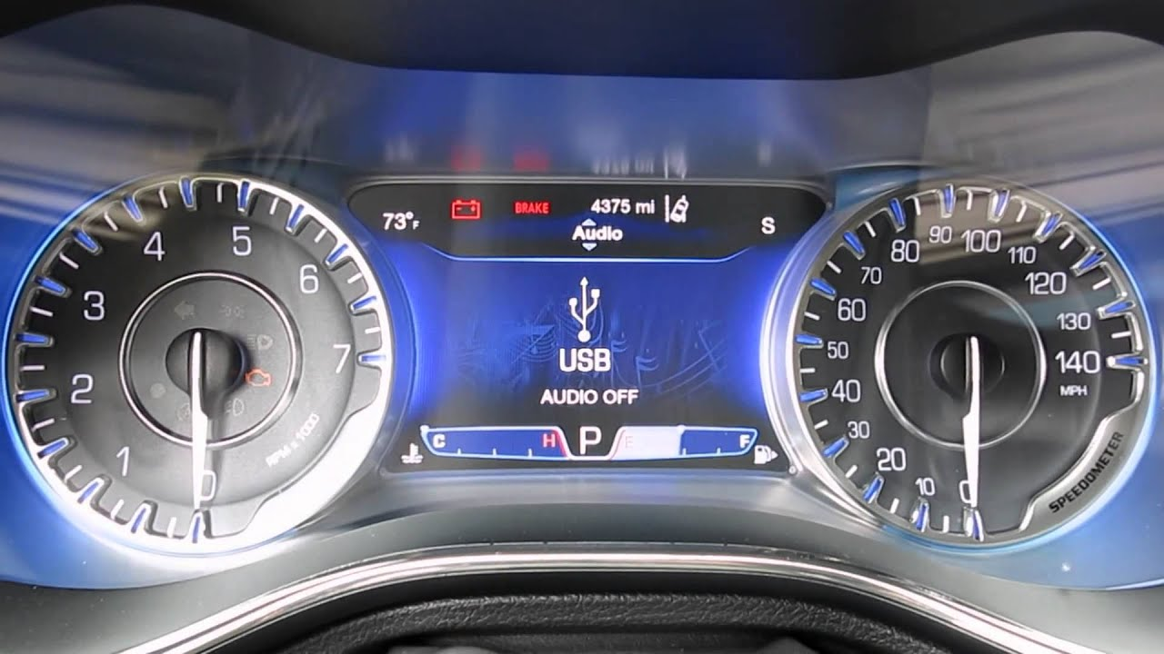 2015 Chrysler 200 gauge settings and console - YouTube