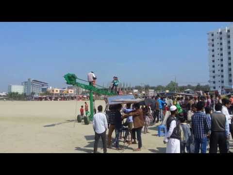 Bangla cinema shooting at Coxbazar beach