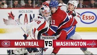 montreal canadiens vs washington capitals   pre season game 2   highlights 27 9 16