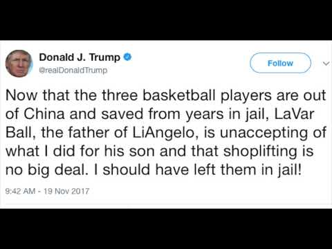 Donald Trump Responds to LaVar Ball I Should Have Left LiAngelo in Jail!