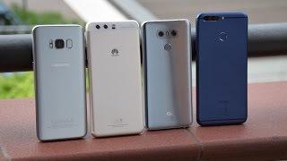 Samsung Galaxy S8 vs LG G6 vs Huawei P10 Plus vs Honor 8 Pro ITA