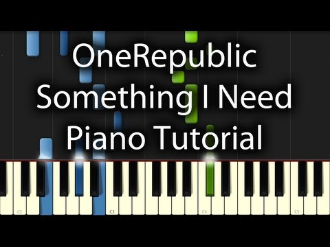OneRepublic - Something I Need Tutorial (How To Play On Piano)