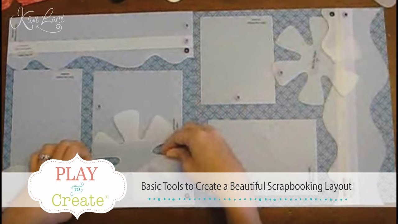 Basic Tools To Create A Beautiful Scrapbooking Layout Youtube