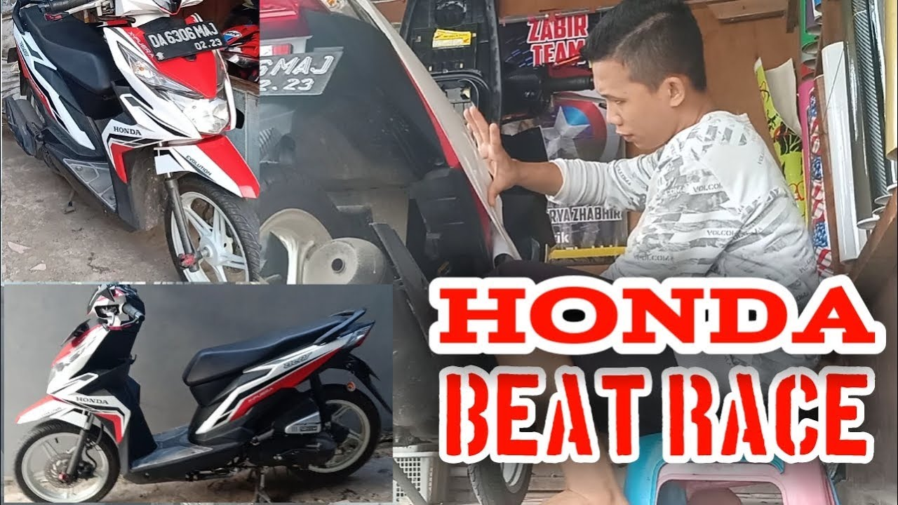 Cutting stiker honda beat 2018 motif race eps 39