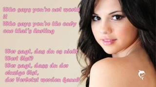 Selena Gomez - Who says [Songtext + Übersetzung] HD