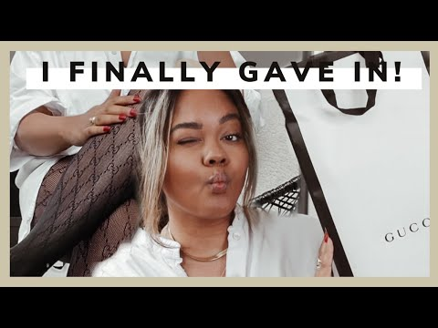 TRY ON + REVIEW | GUCCI UNBOXING | Gucci Interlocking Tights On Tan Brown Skin