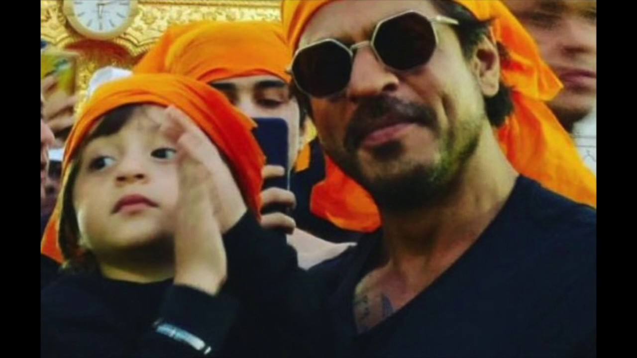 Shah Rukh Khan visits Golden temple with his tiny tot