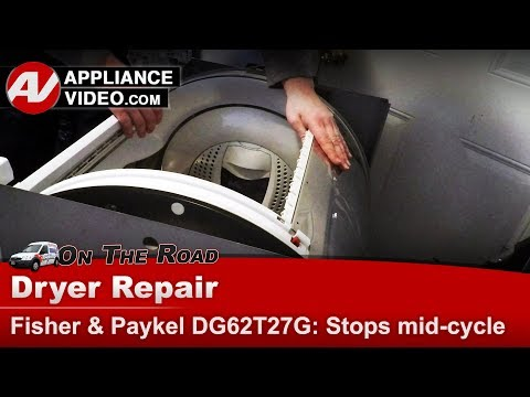 Fisher & Paykel Dryer - Drum Belt - Stops Running Mid-cycle- Diagnostic & Repair