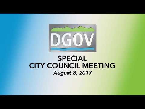 Special City Council Meeting August 8, 2017 - Mill Levy Increase