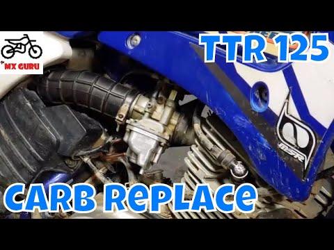 Replacing the carburetor - Yamaha TTR125 2004