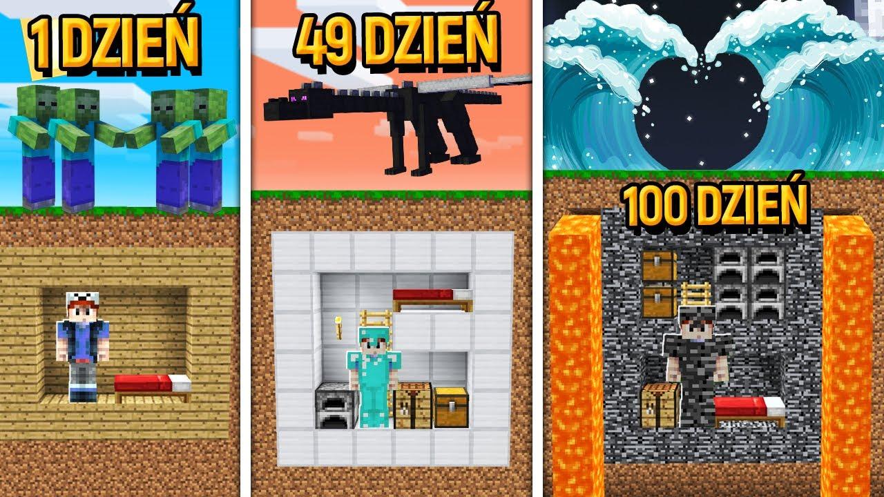 MINECRAFT - SPĘDZIŁEM 100 DNI W BAZIE! (Baza vs 100 dni)