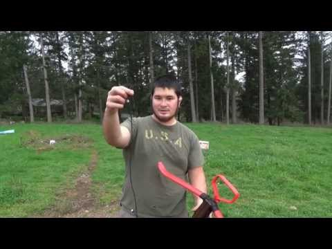 100lb Medieval Style PVC Crossbow for Under $10 Part 4 - Paracord String and Bow Stringer