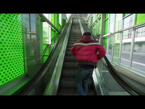Sweden, Stockholm, Älvsjö train station, 2X escalator, 2X elevator