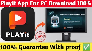 """How To Fix """"Playit App Install For PC Fix Problem    Playit Download Pc (Window,10,8,7) I Can't Play"""